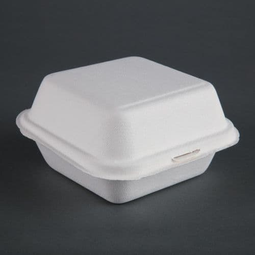 Fiesta Green Compostable Bagasse Burger Boxes 153mm (Pack of 500)